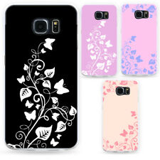 Butterfly Vine Phone Case Thin Cover for Samsung Galaxy S8 S7 Edge Plus Wide