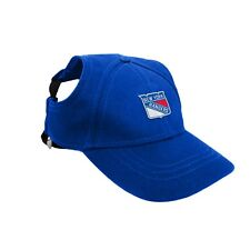 New York Rangers NHL Licensed LEP Dog Pet Baseball Cap Blue Hat Sizes S-XL