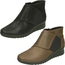 Ladies Clarks Casual Ankle Boots Caddell Rush