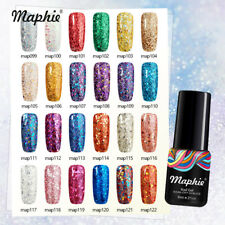Maphie Diamond Gel Nail Polish Glitter Varnish Soak Off UV Manicure Top Base DIY