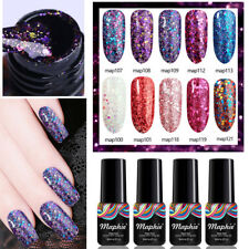 Maphie Diamond Gel Nail Polish Glitter Varnish UV Soak Off Manicure Top Base Diy