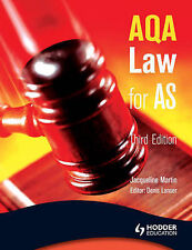 AQA Law for AS by Jacqueline Martin (Paperback, 2008)
