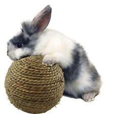 Hamster Rabbit Straw Play Ball Small Pet Rodents Chew Toy Natural Grass Ball N7