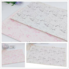 2PCS Marble Pattern Placemat Kitchen Dining Table Place Mats Pads Coasters