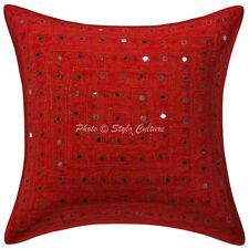 """Indian Cotton Pillow Case Cover Hamdmade Embroidered Cushion Cover Decor 16"""""""
