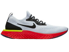 Mens Nike Epic React Flyknit Running Shoes Trainers True White/Black/Pure