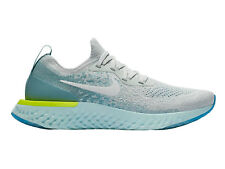 Womens Nike Epic React Flyknit Running Shoes Trainers Pure Platinum/White/Volt