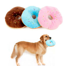 13 cm Lovely Sightly Pet Cotton Chew Donut Toy Dog Pulling Squeaker Quack Sound