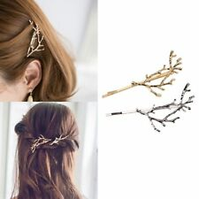 Vintage Gold Silver Tree Hair Clips Girls Alloy Branch Hairpins Fashion