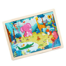 1 Set (24 Pieces) Wooden Jigsaw Puzzle Baby Kids Puzzle Toy