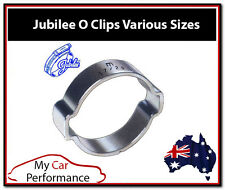 Double Ear O Clip - Eared Fuel Hose Petrol - Zinc Plated Clamps