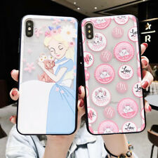 Cartoon Alice Cat Silicone Phone Case Cover For iPhone X XS Max XR 6 7 8 Plus