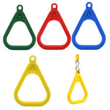 Coated Trapeze Rings for Swing Set, Outdoor Playground Equipment Swing Ring Accs