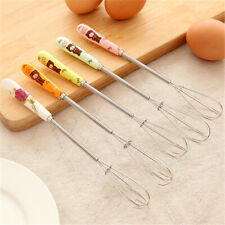 Ceramic Handle Egg Whisk Kitchen Mixer Balloon Stainless Steel Wire Egg Beater
