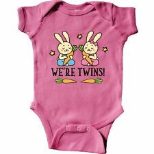 Inktastic Twin Boy And Girl Bunny Gift Infant Bodysuit Were Twins Rabbit Childs