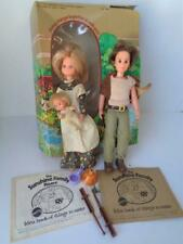 1974 Mattel Sunshine Family Dolls Mom Dad Baby + Idea Craft Books Box