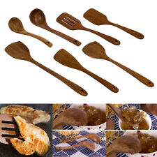 Cooking Utensils Wood Kitchen Spatula Spoon Holder Rice Wok Shovels Tool