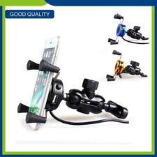 Universal Motorcycle Mobile Cell Phone GPS Holder Motorbike Clamp Mount Stand HH