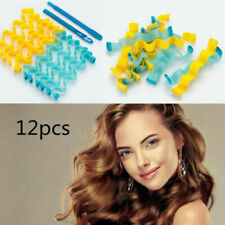 Water Wave Curlers Formers Leverage Spiral Hairdressing Tool 30-40cm 12pcs