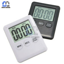Digital Large LCD Display Kitchen Timer Count Down Up Clock Egg Cooking Alarm