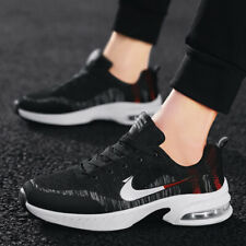 Mens Air Cushion Athletic Sneakers Sports Running Shoes Flyknit Mesh Breathable