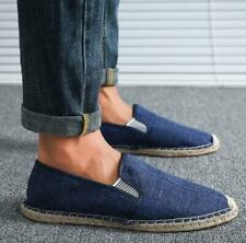 Men's Slip On Loafers Flat Heels Fisherman Canvas Outdoor Pump Casual Shoes New