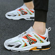 Men's Casual Sneakers Fashion Running Walking Shoes Mesh Breathable Rubber Sole