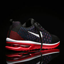 Men's Air Cushion Flyknit Athletic Sneakers Sports Running Shoes Breathable Mesh