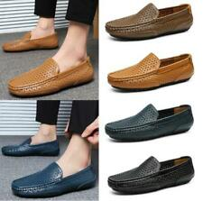 Breathable Men's Casual Loafers Driving Moccasin Flats Slip On Leather Shoes New