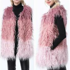 New Women Faux Fur Vest Sleeveless Coat Gilet Jacket Multi-color Waistcoat Party