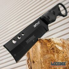 """8"""" SHAVER STYLE FIXED BLADE CLEAVER KNIFE OUTDOOR CAMPING HUNTING SURVIVAL KNIFE"""