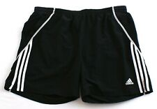 "Adidas ClimaLite Black & White Response 7"" Brief Lined Running Shorts Men's NWT"