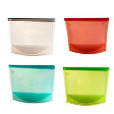 Bag Storage Preservation Food Reusable Seal Silicone Airtight Container Portable