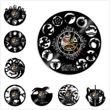 Game Of Thrones Vinyl Record Wall Clock  Wall Art Home Decoration Clock