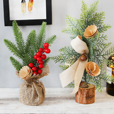 25CM DIY Christmas Tree Small Pine Mini Trees Desktop Home Decor Christmas Gift