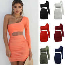 Women's Sexy Mini Dresses Bodycon Party Club Cocktail Splice Hollow Out Dress