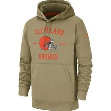 New 2019 Nike Cleveland Browns Salute To Service Sideline Therma Pullover Hoodie