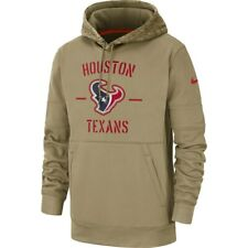 New 2019 Nike Houston Texans Salute To Service Sideline Therma Pullover Hoodie