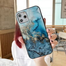Luxury Marble Tempered Glass Case Cover For iPhone 11 Pro Max XS XR X 6 7 8 Plus