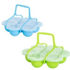 Silicone Egg Bites Mold with Clip-On Lid & Handles Other Pressure Cookers A V8Z2