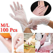 100Pcs Disposable PVC Gloves Tapered Cuffs Anti-Bacterial Anti-Puncture Ability