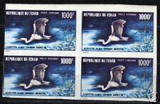 Tchad 1971 YV Airmail 88 imperforated bloc of 4 MNH F