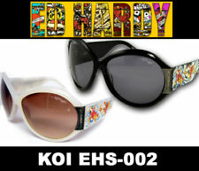 ED HARDY Sunglasses KOI FISH EHS 002 Cloud Black
