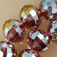 6x8mm Faceted Rainbow AB Crystal Rondelle Beads 36pcs