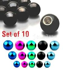 10pcs. Pack 16g, 14g~3mm,4mm,5mm Titanium Anodized 316L Steel Replacement Balls