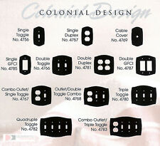 Baldwin Brass Switchplates Colonial Design Outlet Cover