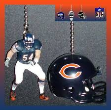 NFL CHICAGO BEARS GREAT, BRAIN URLACHER & FOOTBALL HELMET CEILING FAN PULLS