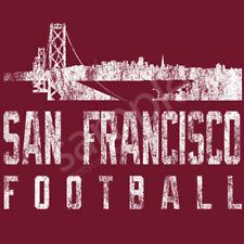 San Francisco Football T-Shirt Tee - San Fran Skyline