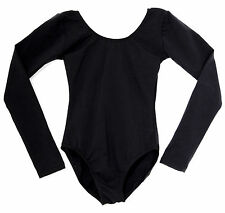 Cotton Dance Long Sleeve Adult Leotard NEW Black #5030A