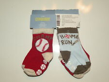 GYMBOREE ALL STAR SLUGGER BASEBALL 2-PAIR OF BOYS SOCK 0 6 NWT